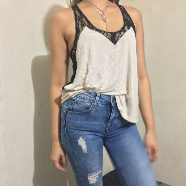 Forever 21, Lace detail flowing blouse