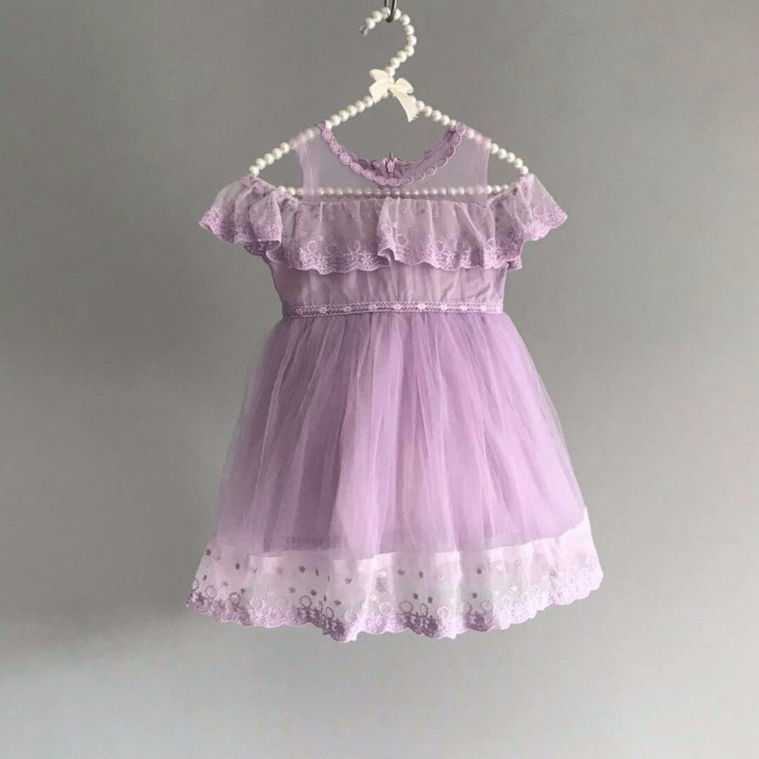 Frida Flower Girl Dress Birthday Party Lilac Purple