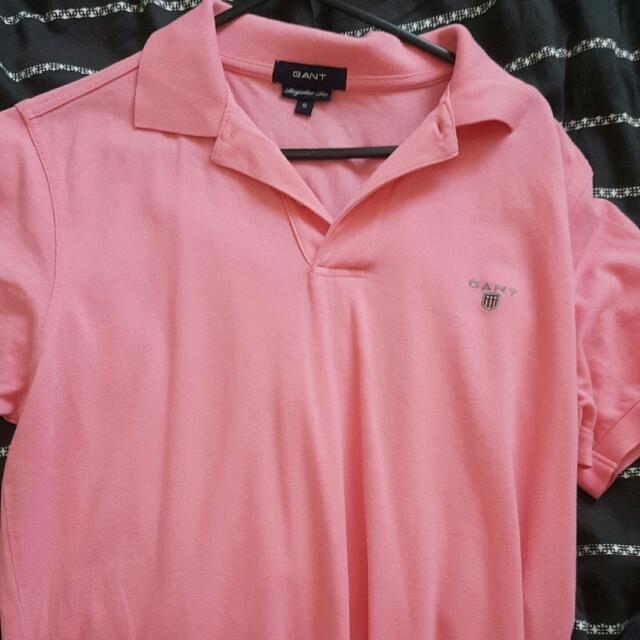 gant pink polo