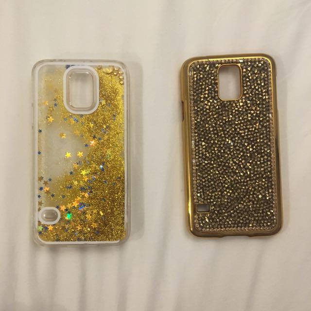 GOLD GLITTER PHONE CASES