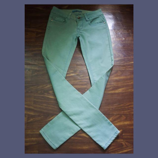 Green Faded Pants