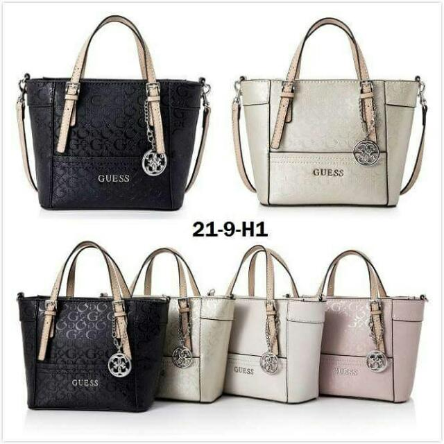 ce35f1f43faa GUESS Mini tote sling bag