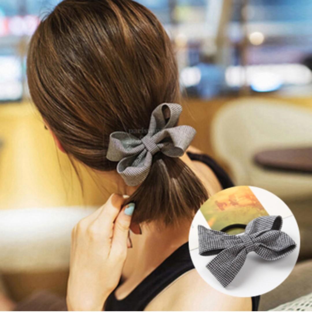 Hair Accessories - Grey Bowknot