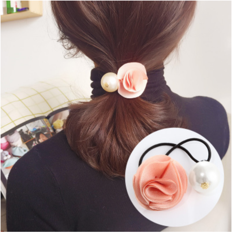 Hair Accessories - Pink Rose with Pearl