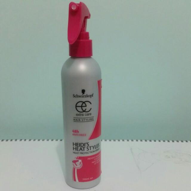 Heat protecting spray