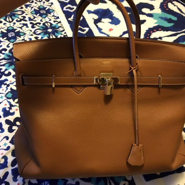 High quality leather Birkin Large