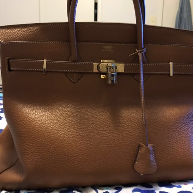 High quality leather Birkin Large
