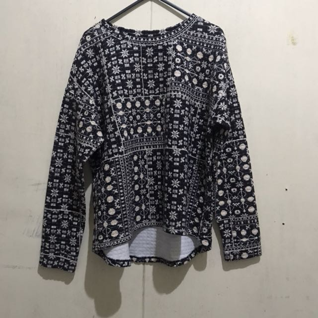H&M Quilted Boxy Sweater