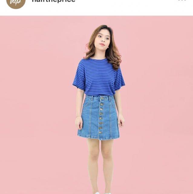 HTP Black and Blue Stripe Shirt