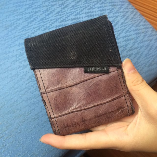 Insight black and purple wallet / dompet ungu hitam Insight
