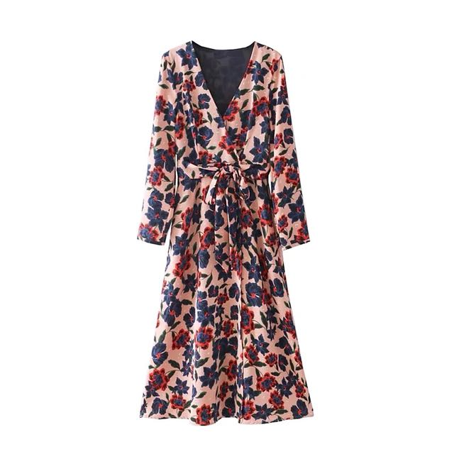 c649877321 🔥Inspired Zara New Style Long Sleeve Midi Flowers Printed Long Dress 🔥