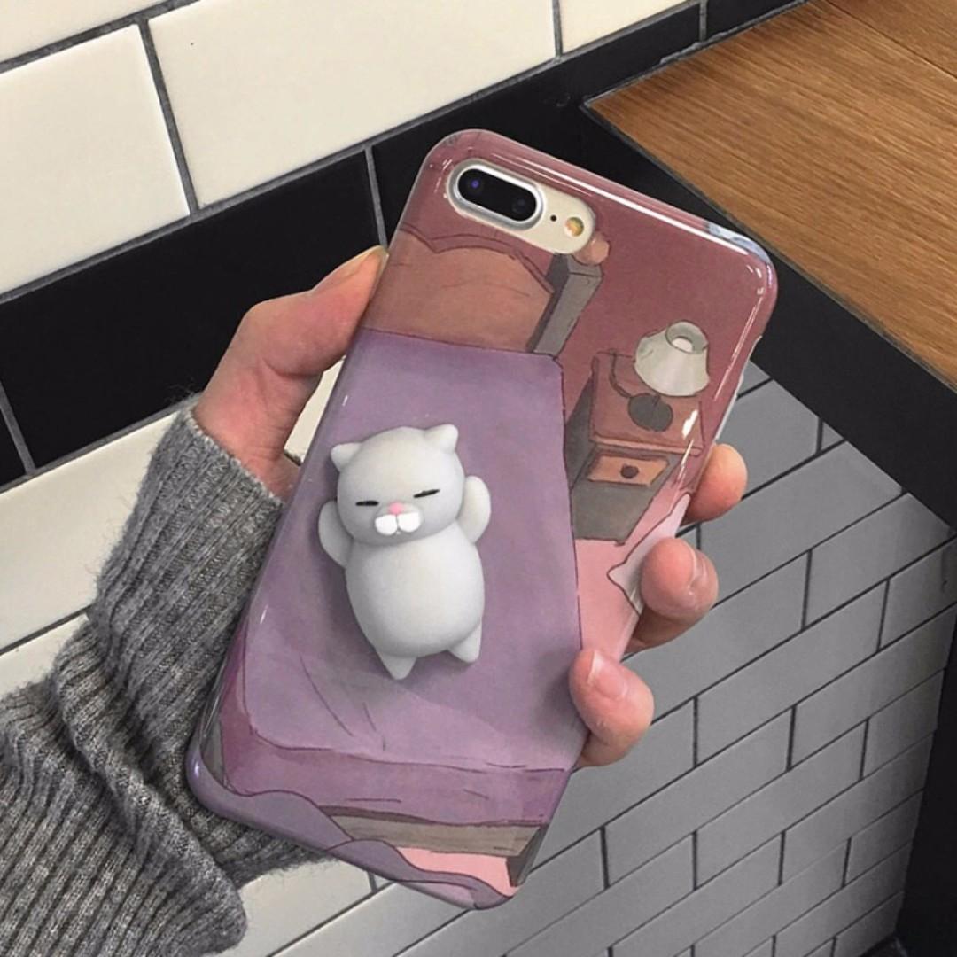 IPHONE Squishy Case Grey Cat
