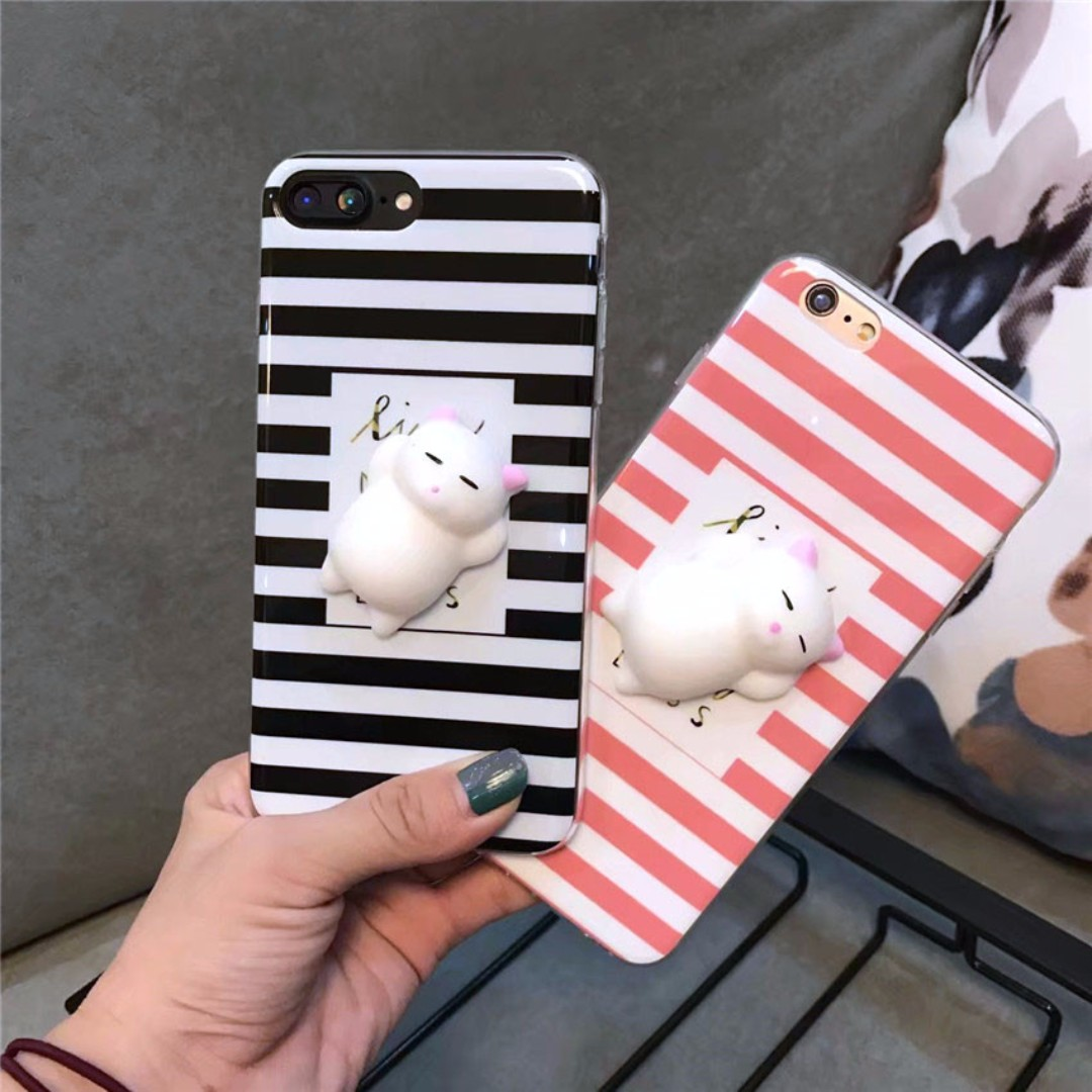 IPHONE Squishy Case STRIPE CAT