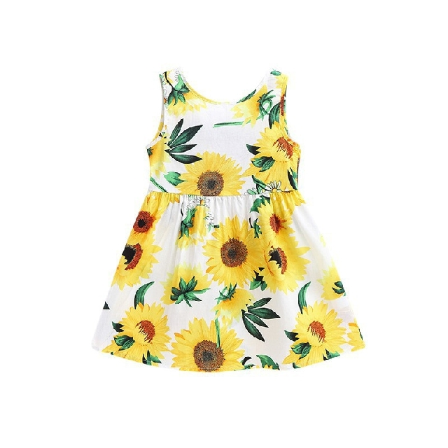 kids girl yellow floral dress