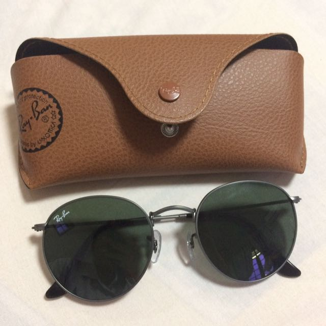 (LARGER FIT) Ray Ban Round Sunglasses in Gunmetal Silver and Green Lenses,  Men s Fashion, Accessories on Carousell 6defb7c4ff99