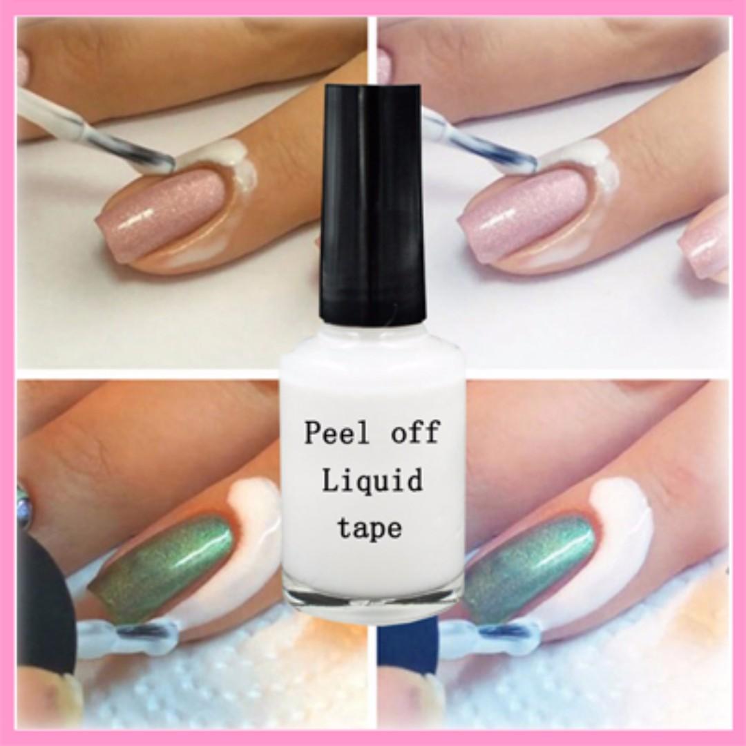 Liquid Peel Off Tape (nail polish, nail art, base coat), Health ...