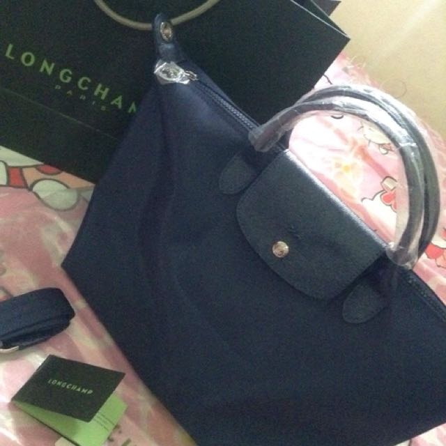 Longchamp neo ( L )  short handle with care card