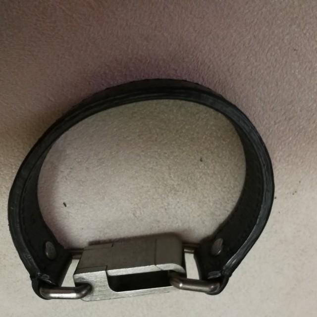 Louis Vuitton men's leather bracelet