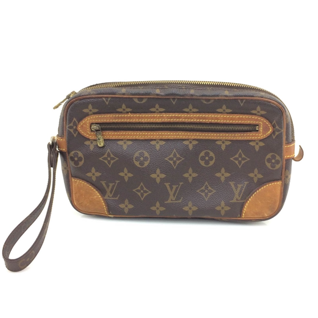 a784e4cd5a01 Louis Vuitton Monogram Marly Dragonne Clutch Bag-M51825
