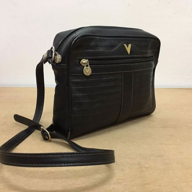 2c1cba6069 Mario Valentino Sling Leather beg, Men's Fashion, Bags & Wallets on  Carousell