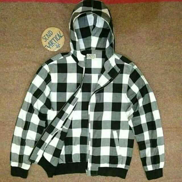 Marlond plaidbox zip hoodie