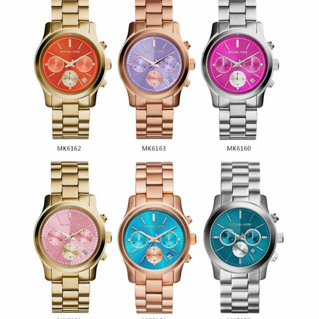 Michael Kors 羅馬假期三眼計時腕錶