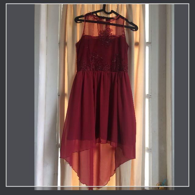 Midi dress red custom design
