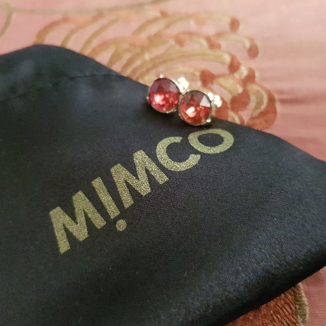 Mimco pink stud earrings
