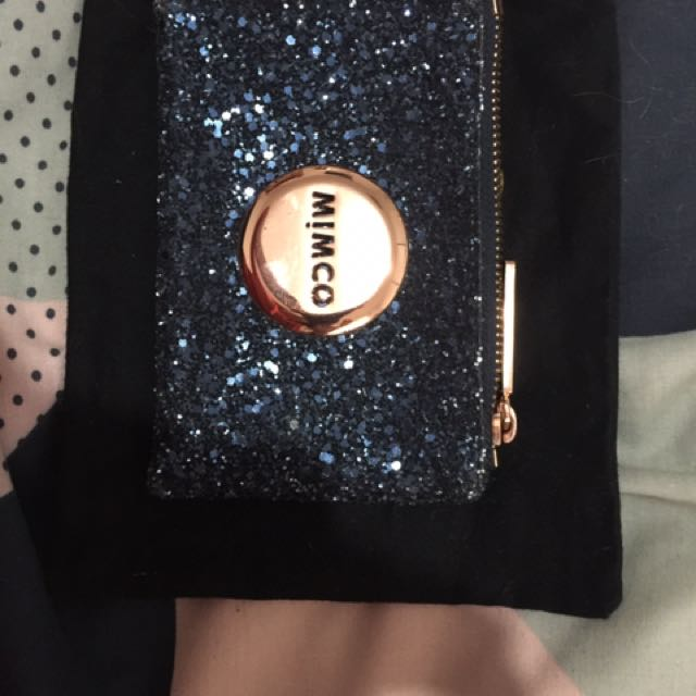 Mimco Prussian Blue Sparks Small Pouch