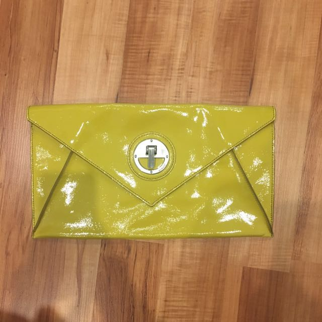 Mimco Yellow Clutch