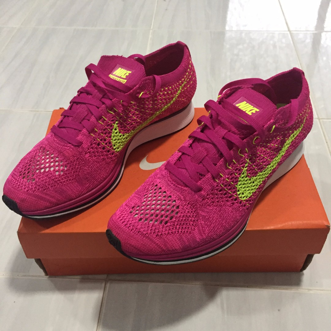 c4ab7f52be01 Nike Flyknit Racer Pink Flash