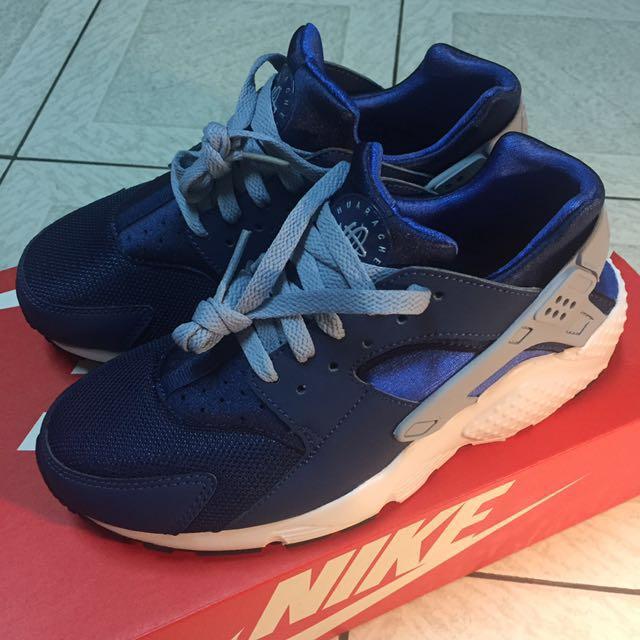 Nike Huarache 深藍灰白武士鞋