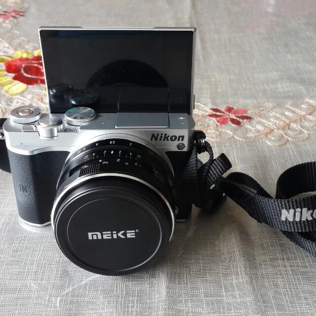 Nikon J5 lensa kit + lensa meike+lensa wide macro