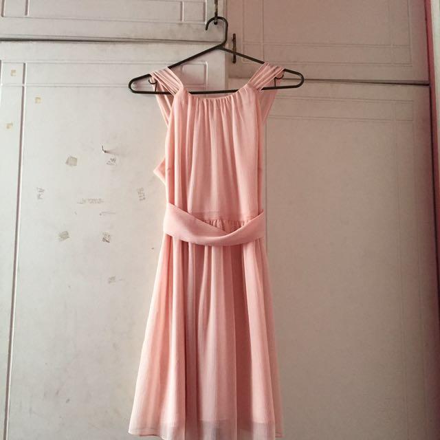 Peach Bridesmaids Dress
