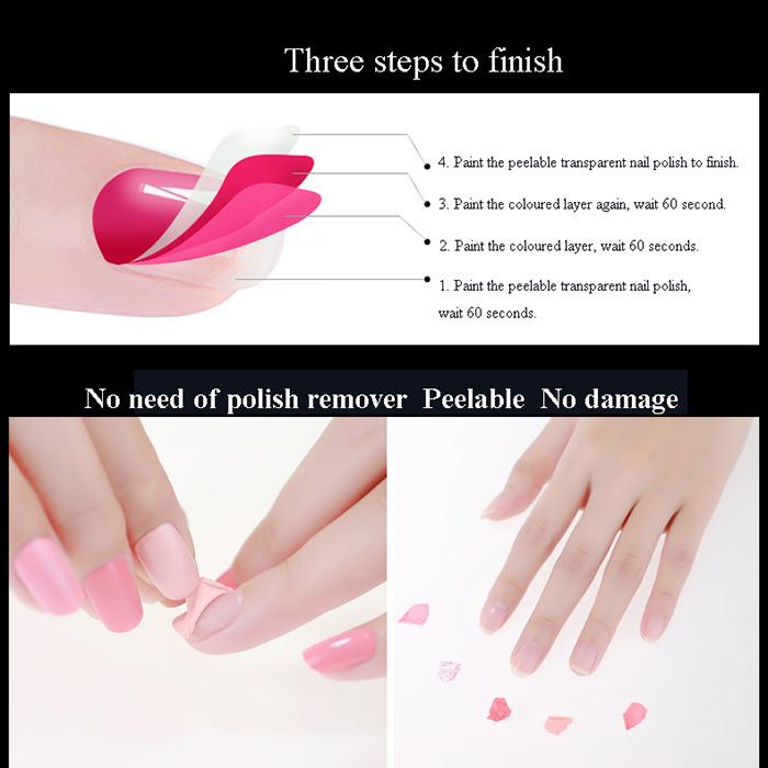 Exelent Peelable Nail Polish Festooning - Nail Paint Design Ideas ...