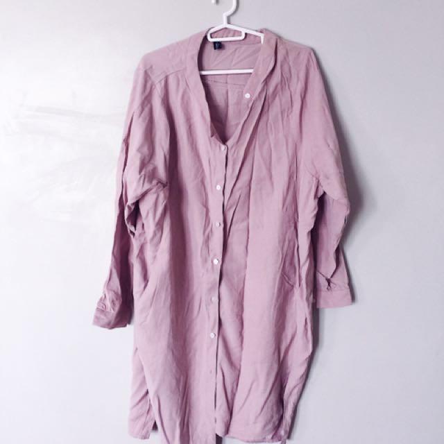 Pomelo Oversized Shirtdress