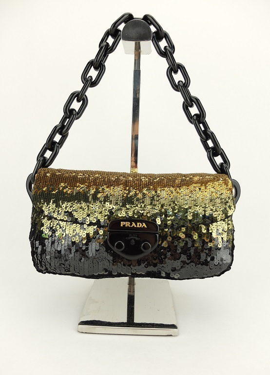 a661e725039c53 Promotion Prada BR4149 Paillettes -ORO1, Luxury, Bags & Wallets on ...