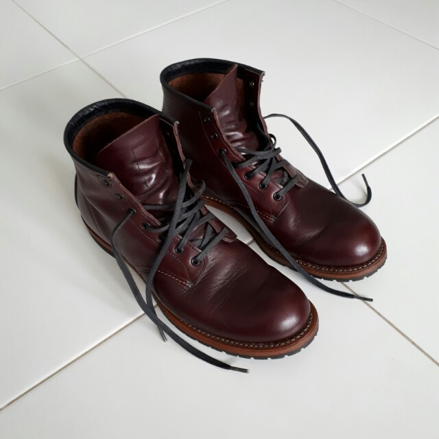8739e9d9931b Red Wings 9011 Beckman Round Black Cherry Leatherstone Leather Boots ...