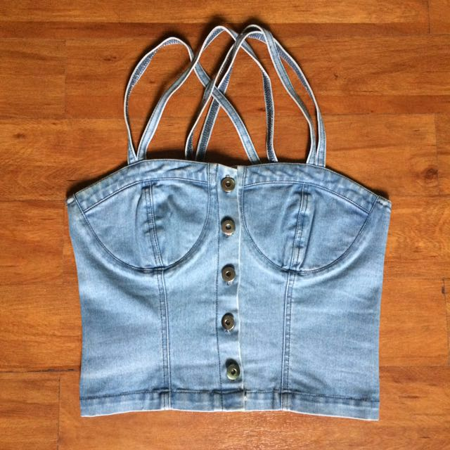 !REPRICED! Denim Bustier Top
