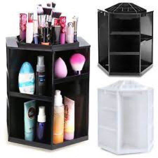 Rotating Makeup Holder Black
