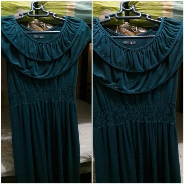 Royal Blue Scoop Neck Sleeveless Dress