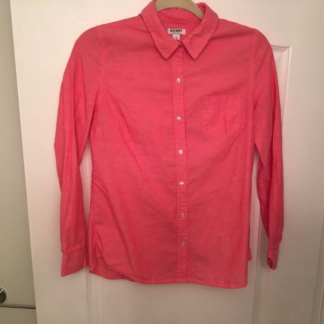 Salmon Button Up Shirt (s)