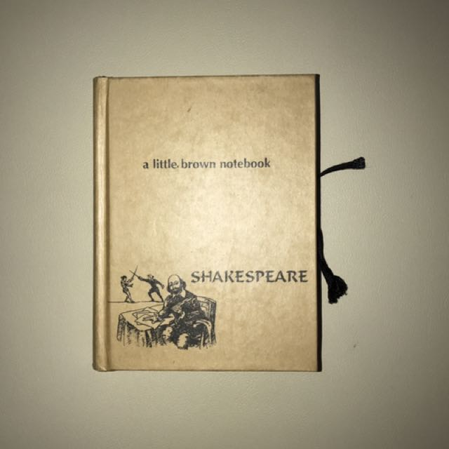 shakespeare notebook quotes and illustration from hamlet a