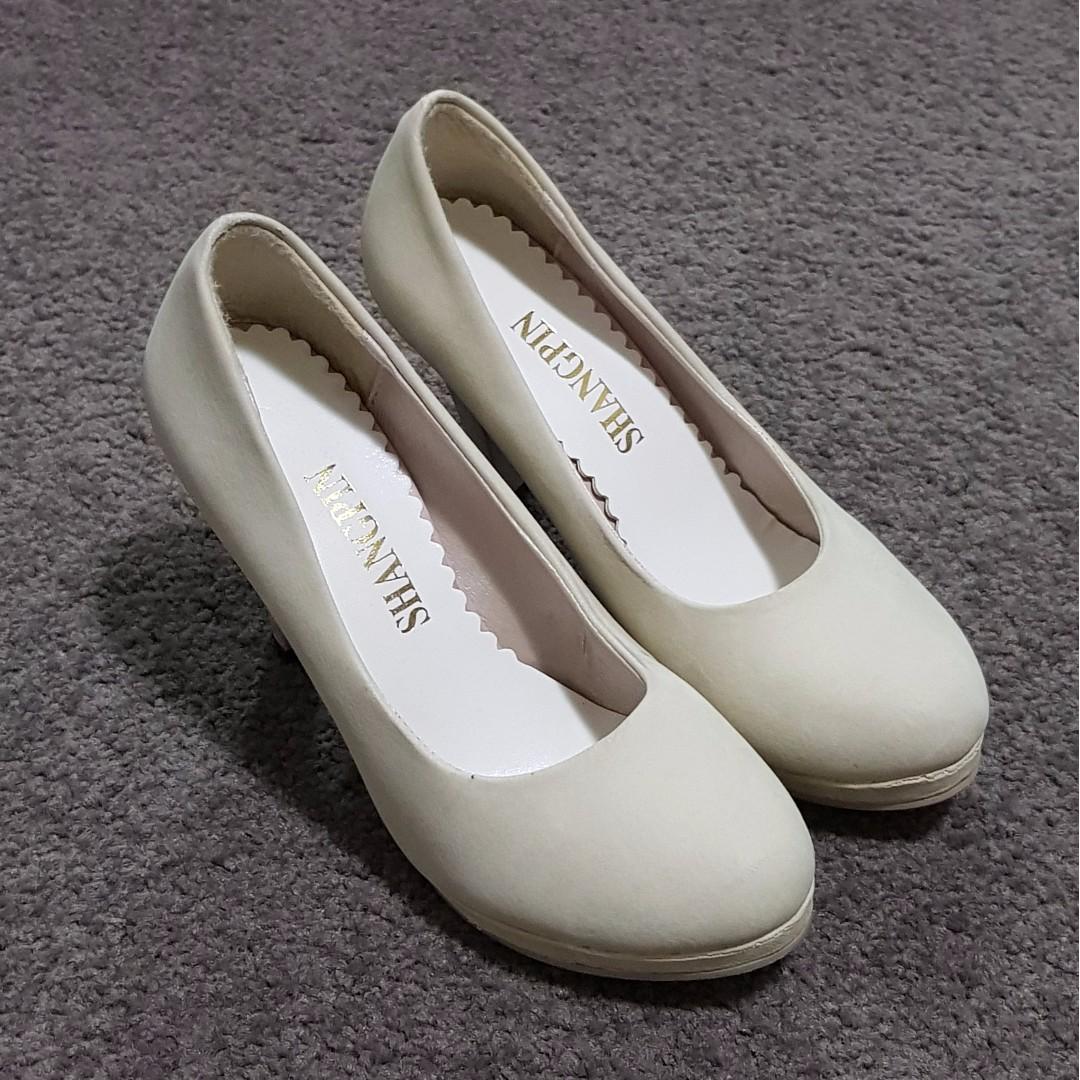 Shangpin - Creamy White High Heels