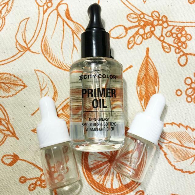 SHARE 5 ML IN BOTTLE City Color Primer Oil
