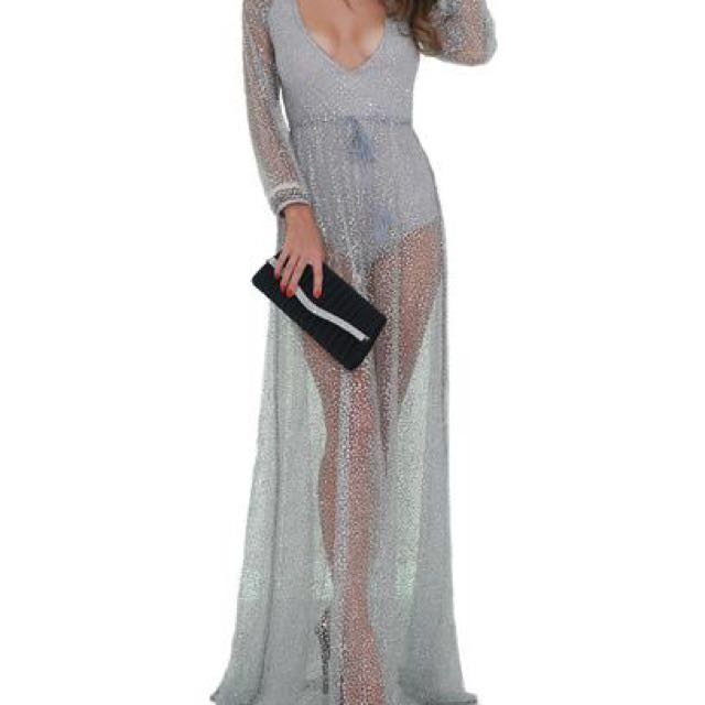 Sheer Gown Silver