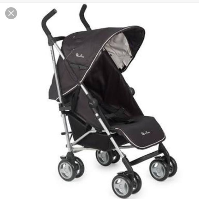 Silver Cross Stroller Pop Sport Hitam Kereta Bayi Asli Authentic