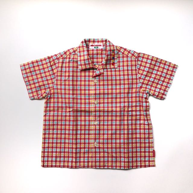 (Size 2-3T) mikihouse Check Shirt