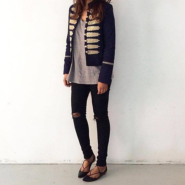 Sportsgirl Navy Band Jacket