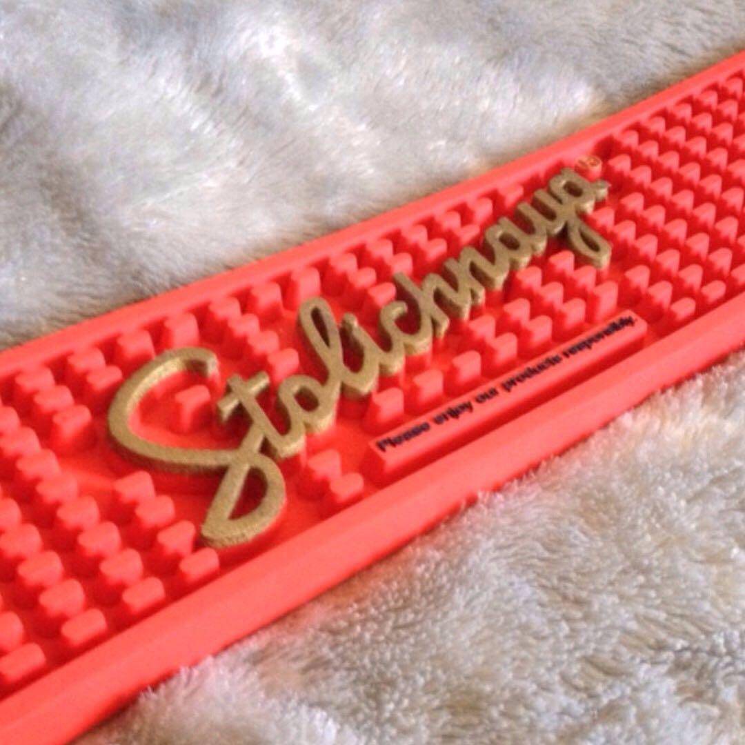 Stolichnaya bar mat